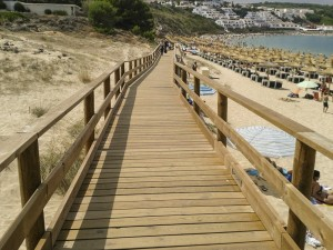 Wooden Cladding Path along the Beach & Bay